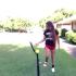 Texas softball player and bat trick