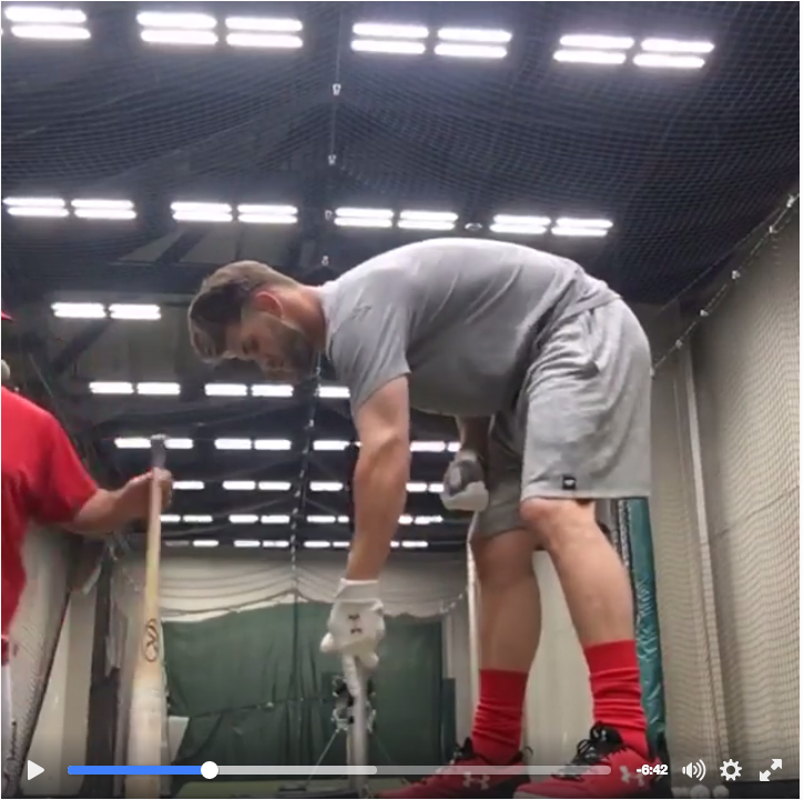 The Warmup Baseball Bat Used by Bryce Harper