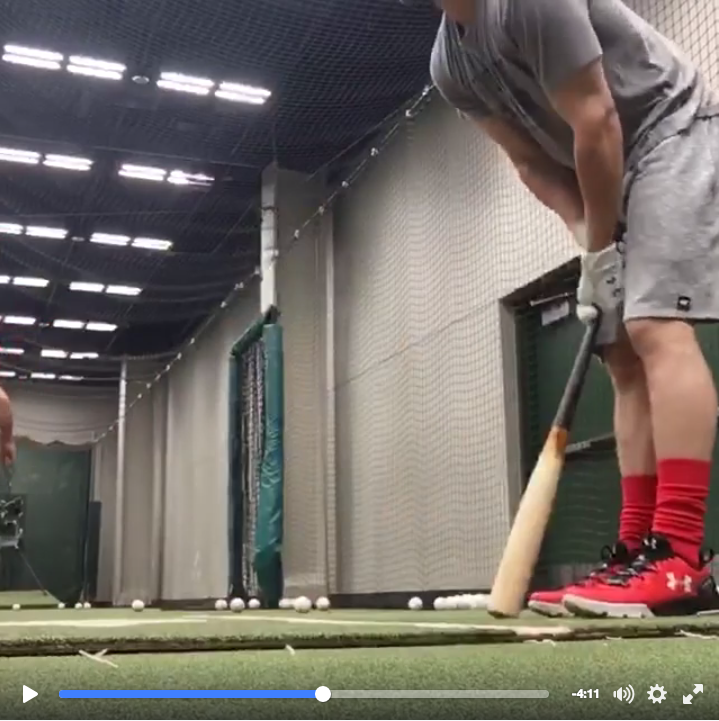 Bryce Harper Warm-up Bat Soft toss